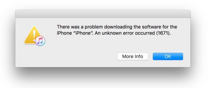 Otro error de actualización de iPhone iOS 10.