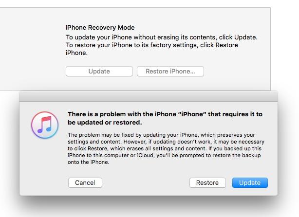 Cómo reparar un iPhone bloqueado desde la actualización iO S10.