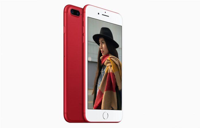 Lanzamiento de la variante de color rojo Apple iPhone 7 Plus y iPhone 7