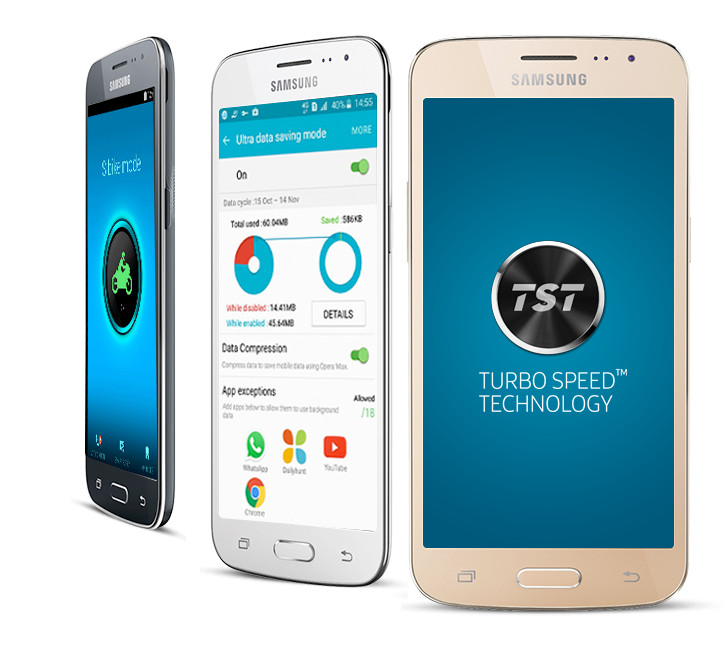 Interfaz de usuario del Samsung Galaxy J2 2016