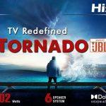 Serie de TV Hisense Tornado 4K con altavoces JBL de 102 W lanzada en India
