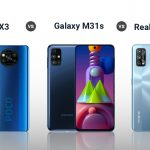 Poco X3 vs Realme 7 Pro vs Samsung Galaxy M31s: ¿Cuál es mejor?