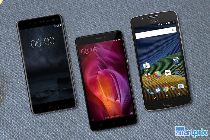 Comparación de Nokia 5 Vs Moto G5 vs Redmi Note 4: especificaciones, características y precio comparado
