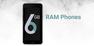 Los mejores teléfonos móviles de 6GB RAM para comprar en India en 2018