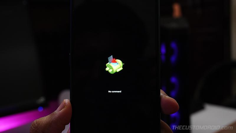 Pantalla Stock Recovery 'Sin comando' en Nokia 5.1