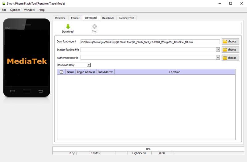 """Haga doble clic en """"flash_tool.exe"""" para iniciar la herramienta SP Flash en su PC con Windows"""