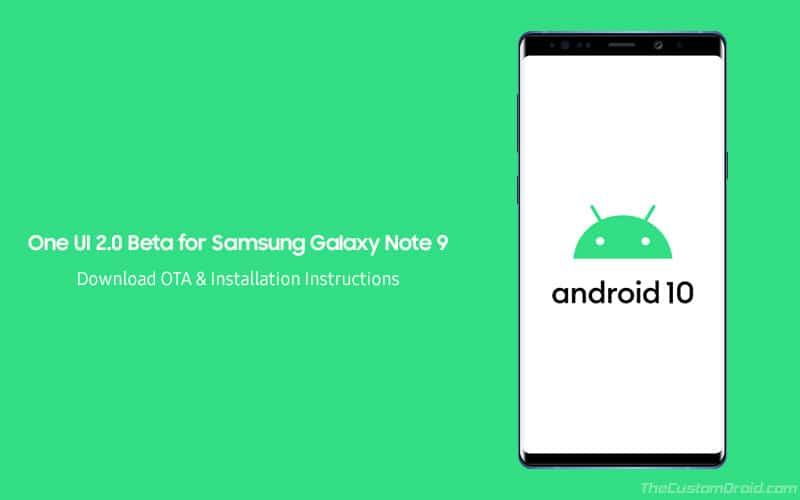 Descargue e instale One UI 2.0 Beta en Samsung Galaxy Note 9