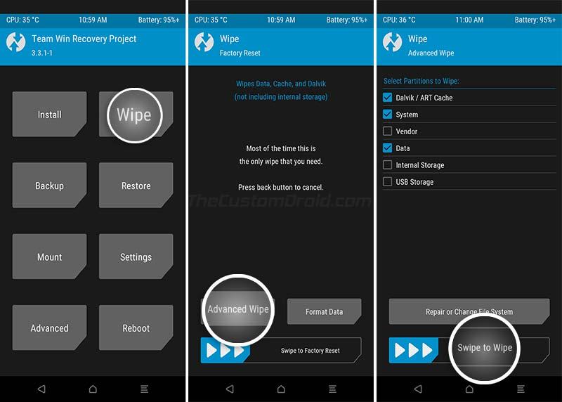Instale la actualización OnePlus 6 / 6T OxygenOS 10 usando TWRP Recovery - 01