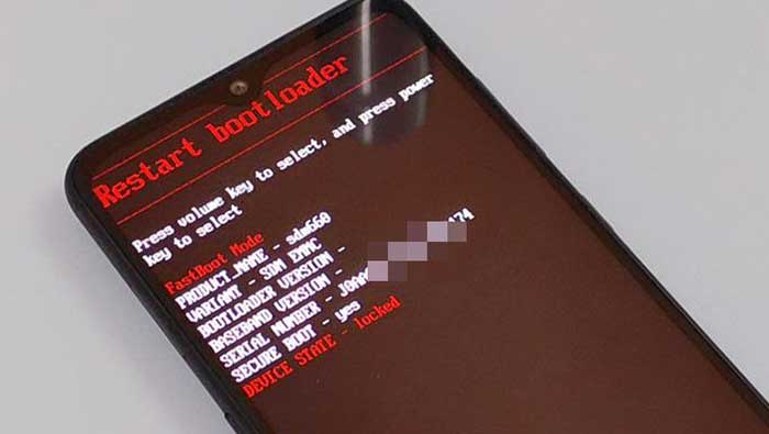 Arranque Nokia 7.2 / Nokia 6.2 en modo Fastboot