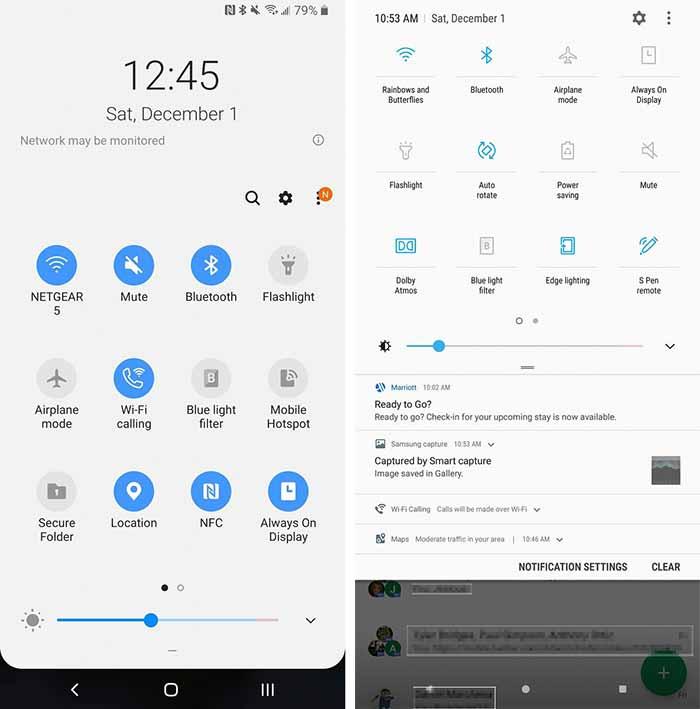 Galaxy Note 9 One UI - One UI vs Samsung Experience Configuración rápida