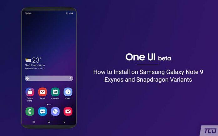 Instale One UI Beta basado en Android Pie en Samsung Galaxy Note 9 (OTA)