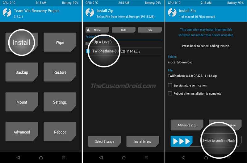 Instale la actualización de Android Oreo Moto G4 / G4 Plus usando TWRP