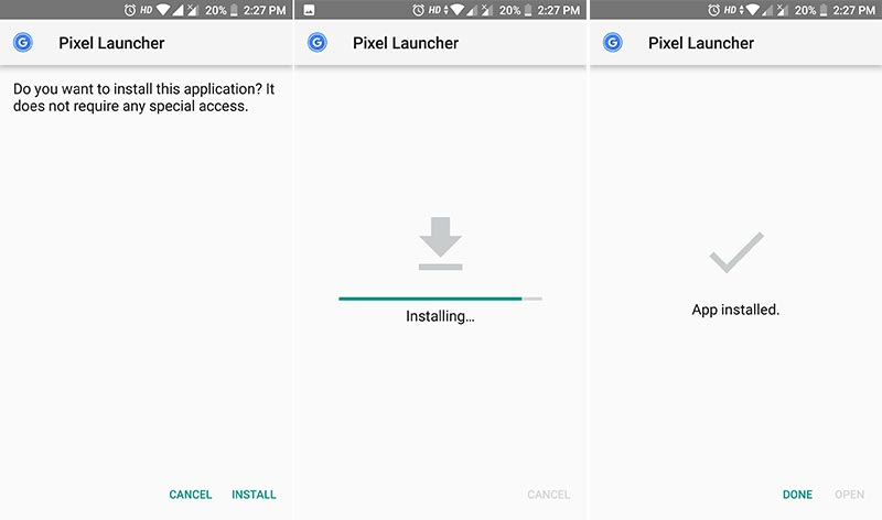 Cómo instalar Google Pixel 3 Launcher APK