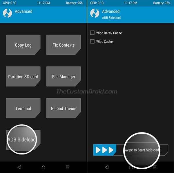 Instale TWRP Recovery en Xiaomi Mi A2 y Mi A2 Lite - ADB Sideload TWRP Installer zip