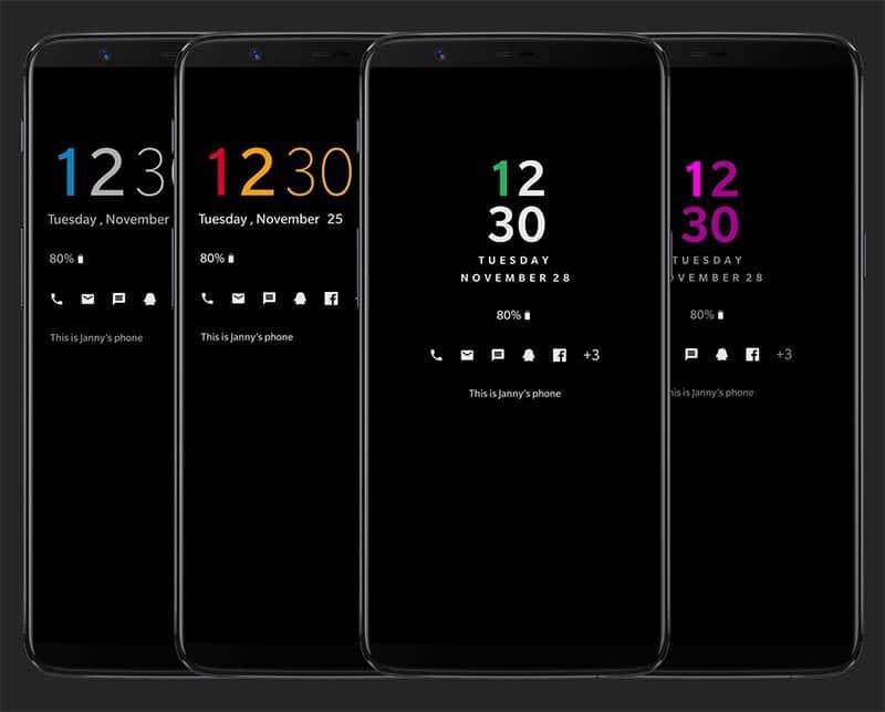 Personalice la pantalla siempre encendida en OnePlus 6 / 5T / 5 - Capturas de pantalla del personalizador de AOD