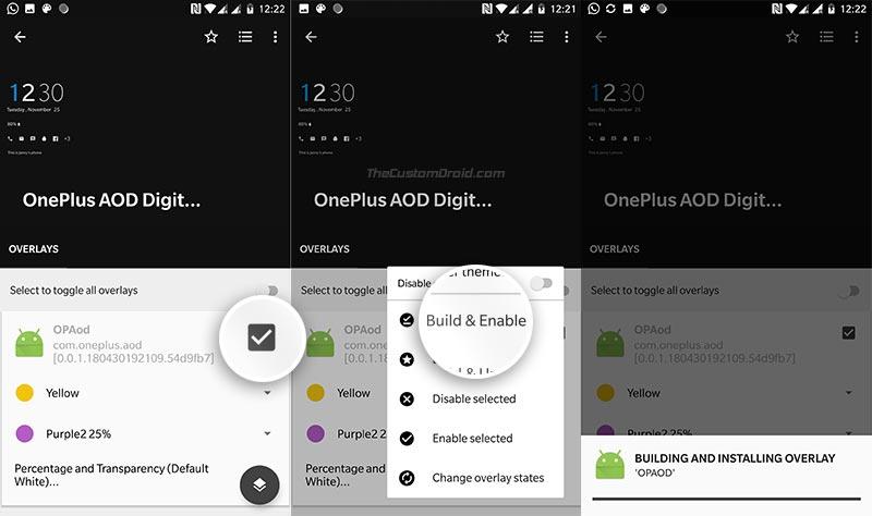 Personalice la pantalla siempre encendida en OnePlus 6 / 5T / 5: cree y habilite superposiciones
