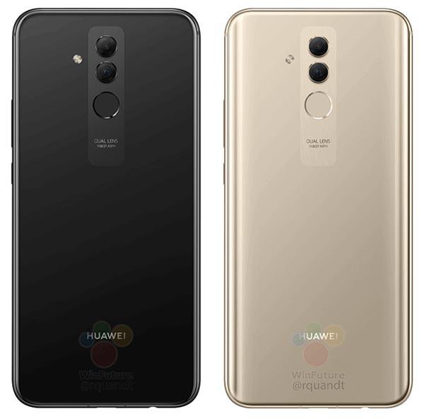 Variantes de color del Huawei Mate 20 Lite: negro y dorado