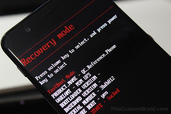 Cómo iniciar OnePlus 6 en modo de recuperación