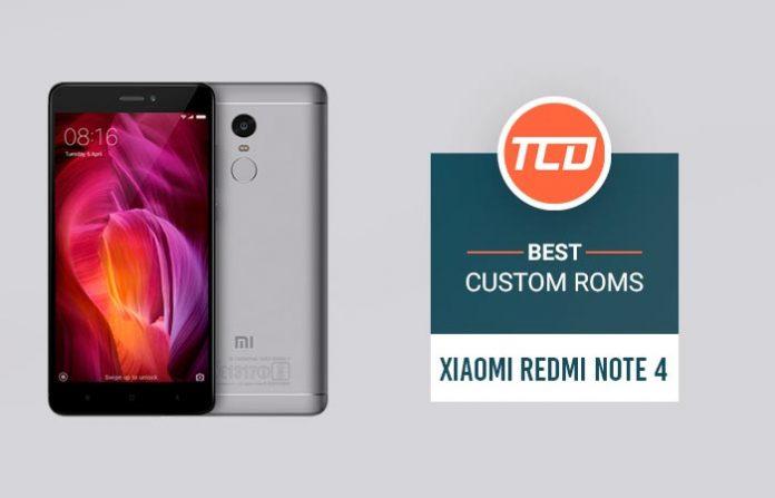 Best Custom ROMs for Xiaomi Redmi Note 4 List