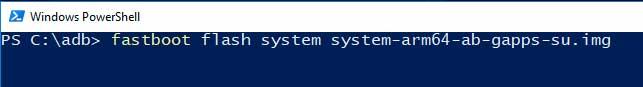 Instale la imagen del sistema genérico en los dispositivos Project Treble usando Fastboot