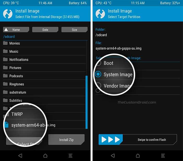 Instale la imagen del sistema genérico en los dispositivos Project Treble usando TWRP-1