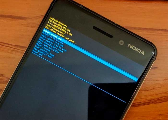 Instalar Nokia 6 Android 8.1 Oreo Update usando Stock Recovery