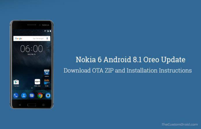 Install Nokia 6 Android 8.1 Oreo Update - OTA