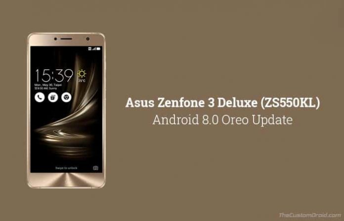 Asus Zenfone 3 Deluxe Android Oreo Update (ZS550KL)