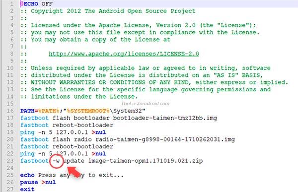 Cómo degradar Android P - Imagen de fábrica de Oreo - 1