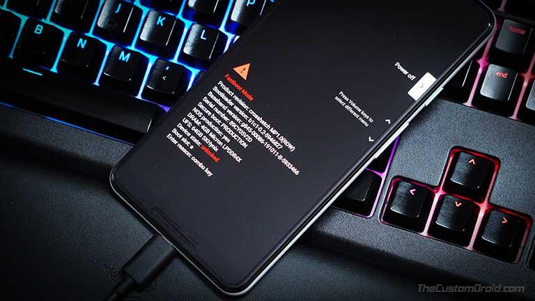 Arranque el dispositivo Android en modo Fastboot para flashear la imagen de arranque parcheada de Magisk