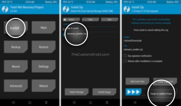 Habilite el tema OnePlus 5T Star Wars en dispositivos rooteados