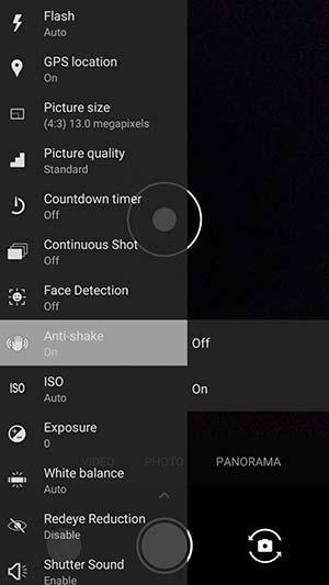 Paranoid Android 7.3.1 - Modo anti-vibración en la aplicación Cámara
