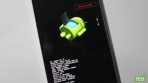Modo de cargador de arranque de Nexus 6P