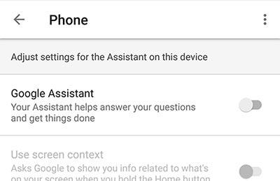 Desactivar el Asistente de Google en Android: desactivar el Asistente de Google Alternar