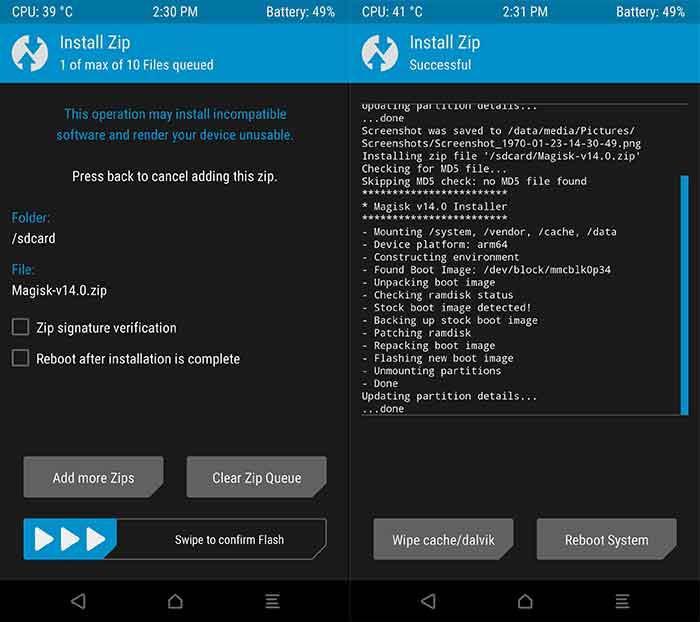 Instale Magisk usando TWRP para rootear Moto Z2 Play