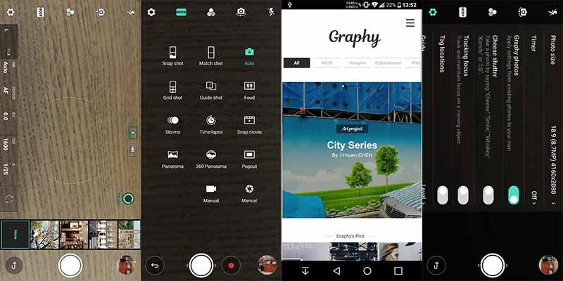 Instale la aplicación de cámara LG V30 en LG G6 - Capturas de pantalla