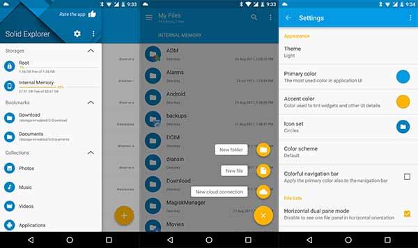 Las 5 mejores aplicaciones de administrador de archivos de Android: Solid Explorer