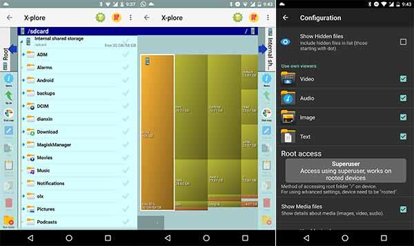 Las 5 mejores aplicaciones de administrador de archivos de Android - X-plore File Manager