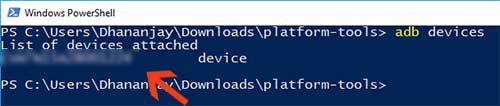 Comando de dispositivos Fastboot
