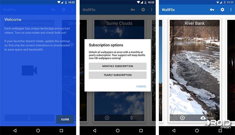 Captura de pantalla de la aplicación WallFix para Android