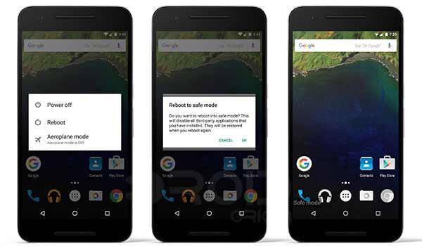 Ingresa al modo seguro en Nexus 6P