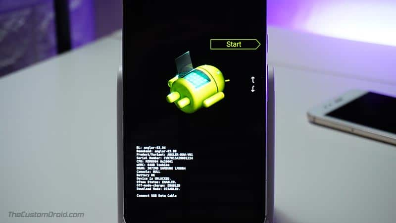 Modo de cargador de arranque LG Nexus 5X