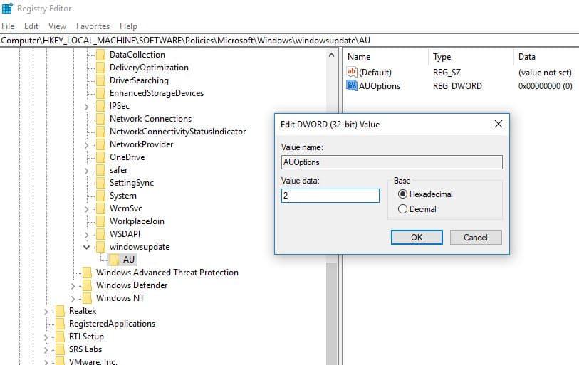 Detener las actualizaciones automáticas en Windows 10 Home