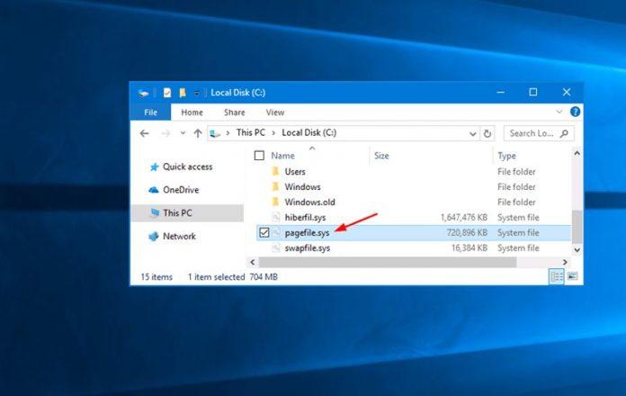Cómo eliminar o borrar un archivo de paginación al apagar en Windows 10