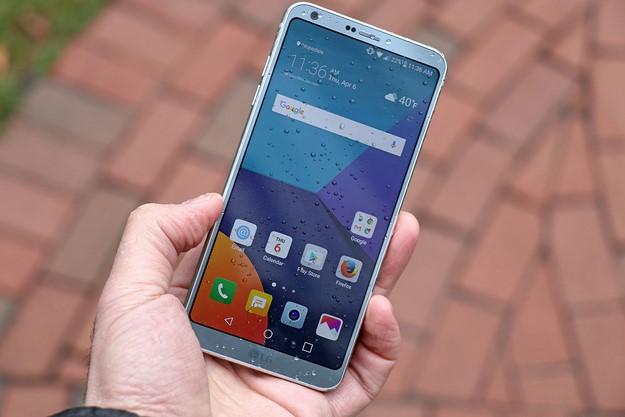 LG G6 In Hand In Rain