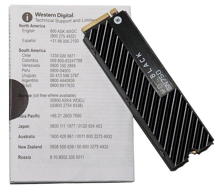 paquete de disipador de calor wd sn750