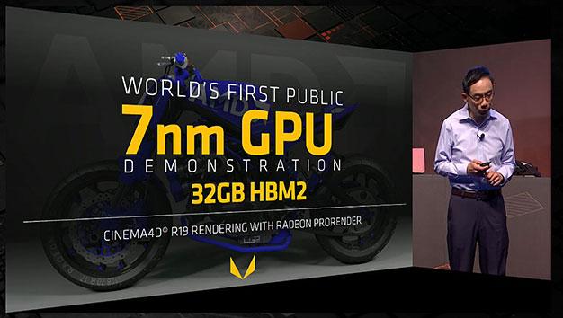 Demostración de AMD Vega de 7 nm