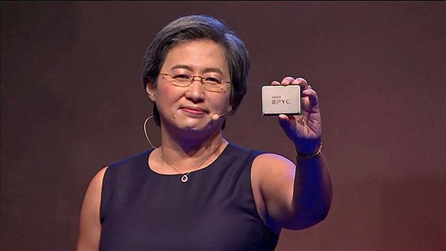 AMD EPYC 2.a generación 7nm Lisa Su