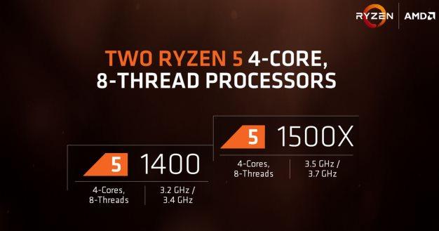 procesadores amd ryzen 5 de cuatro núcleos