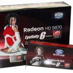 Juegos ATI Radeon HD 5870 Eyefinity 6 Edition